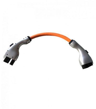 CCS typ 1 till CCS typ 2 adapter för att ladda elbilen