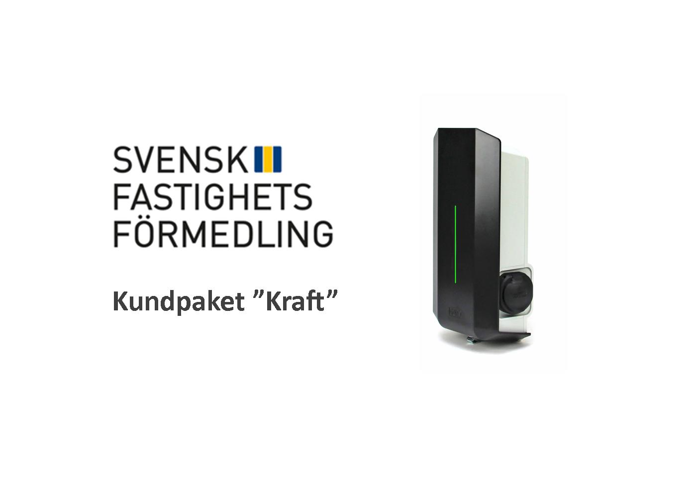 Laddstation paket kraft Garo Svensk fastighetsförmedling EV Solution laddbox elbil