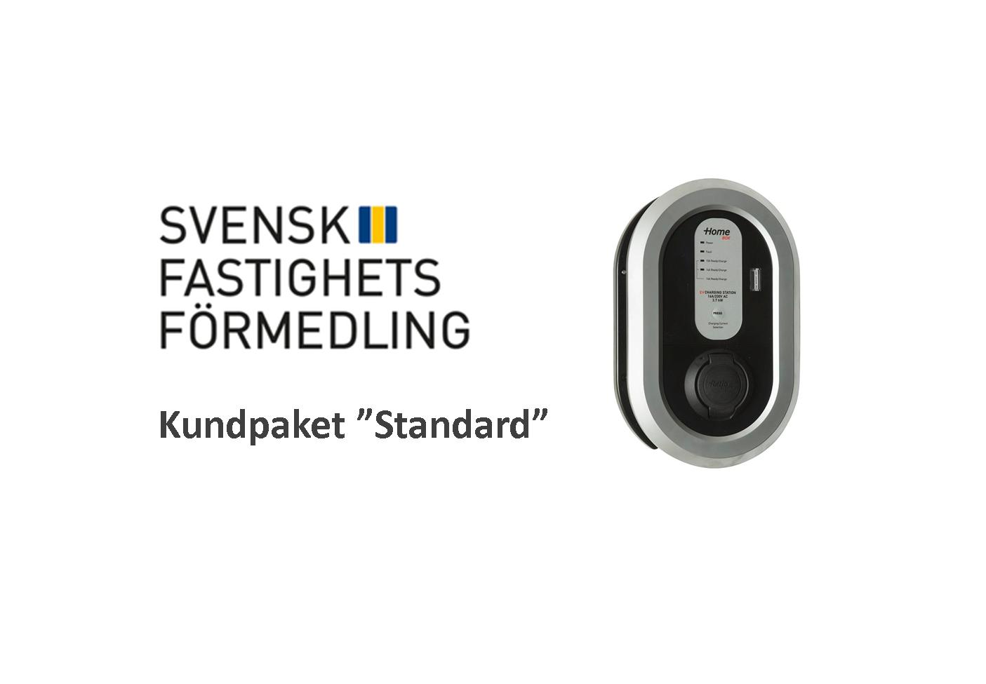 Laddstation paket standard Ratio Svensk fastighetsförmedling EV Solution laddbox elbil