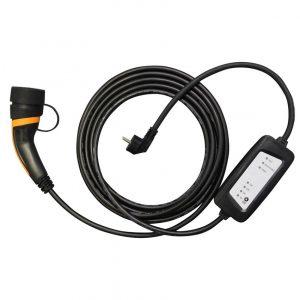 Laddkabel med justerbar laddström 6A till 16A ladda elbilen typ 2 typ 1 normalladdning hemmaladdning ladda hemma elbil EV Solution