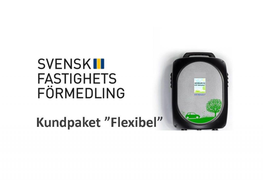 Laddbox ladda elbil Svensk Fastighetsförmedling Flexibel EV Solution