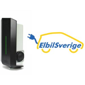 ElbilSverige Garo laddbox 22kW 32A 400V med uttag typ 2