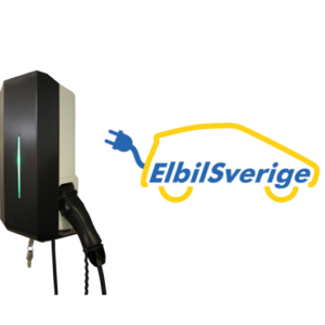 ElbilSverige Garo laddbox 22kW 32A 400V med fast kabel typ 2