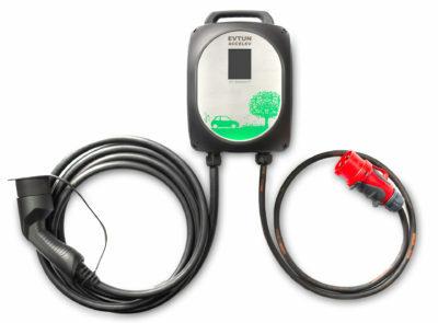 Laddstation Accelev 3-fas EV charging station Leaflet 11kW