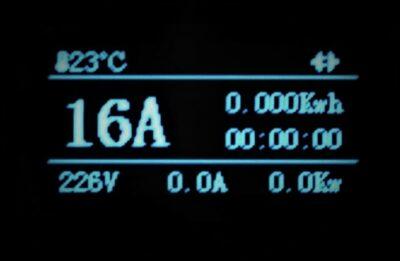 Justerbar laddkabel 8-16A EV Solution display